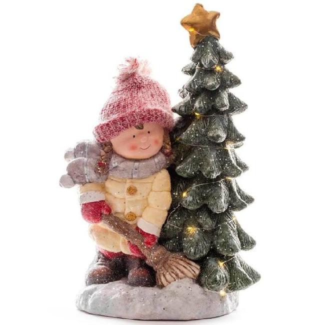 Xecco kislány fa mellett karácsonyi dekoráció 1966 LED SP-8090689