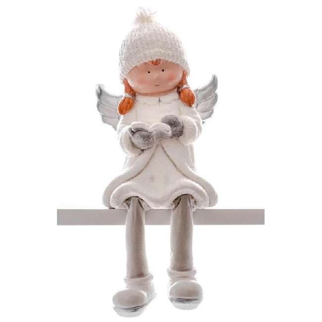 Xecco ülő angyal figura könyvvel 19810 SP-8090696