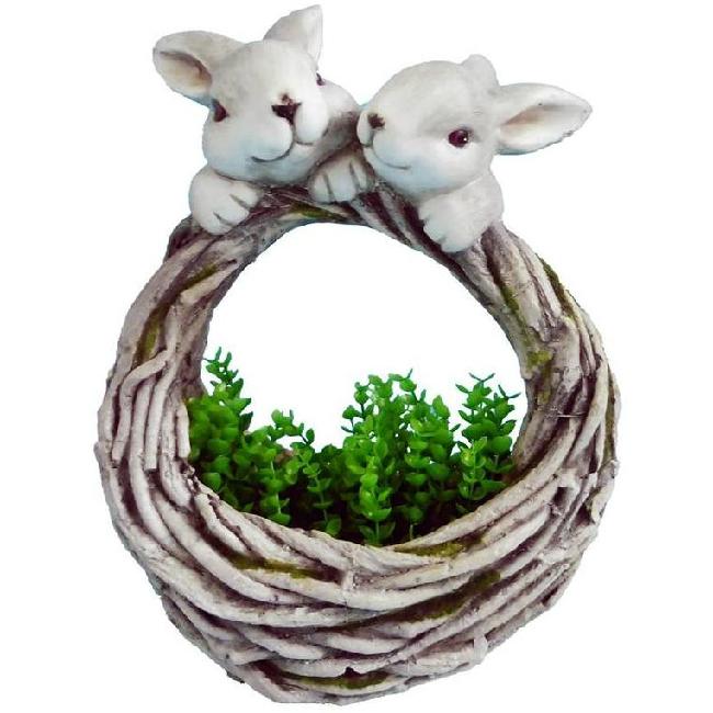 Gecco kis nyuszik kosárkával húsvéti dísz 9236 SP-8090650
