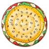 Bestway 43410 kerek gumimatrac hamburger mintás 158 cm SP-8050136