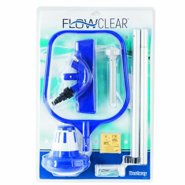 Bestway FlowClear 58195 Venturi gyűjtő háló rúddal szett csomag SP-8050194
