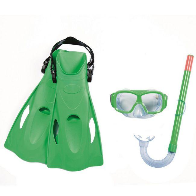 Bestway Hydro-Swim Freestyle Snorkel gyerek búvár szett zöld SP-8050096