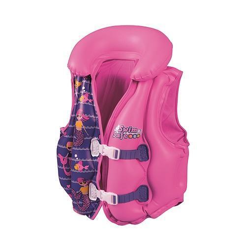 Bestway Swim Safe Deluxe felfújható mellény rózsaszín SP-8050104