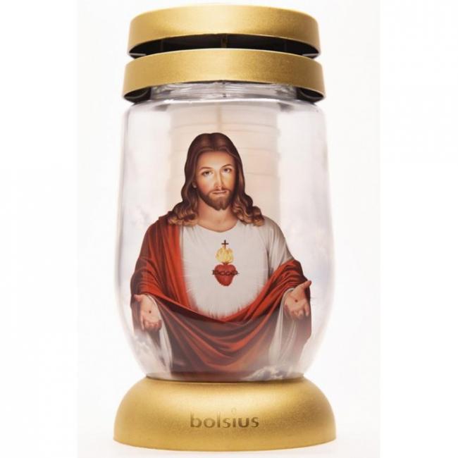 Bolsius kegyeleti mécses S12 3D Jézus SP-2172176