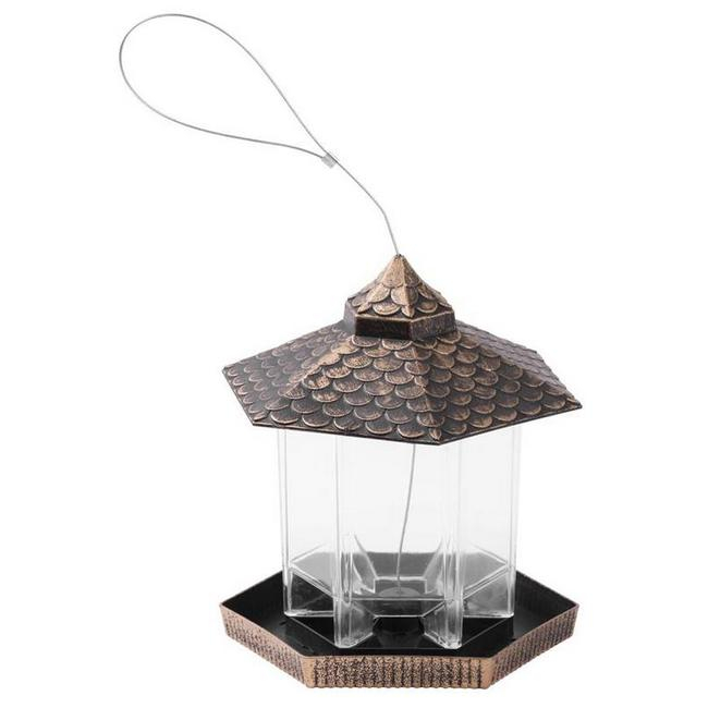 Műanyag adagolós madáretető bronz SP-2171764
