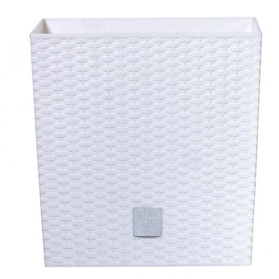 Prosperplast Rato Low 400 virágcserép fehér SP-255326