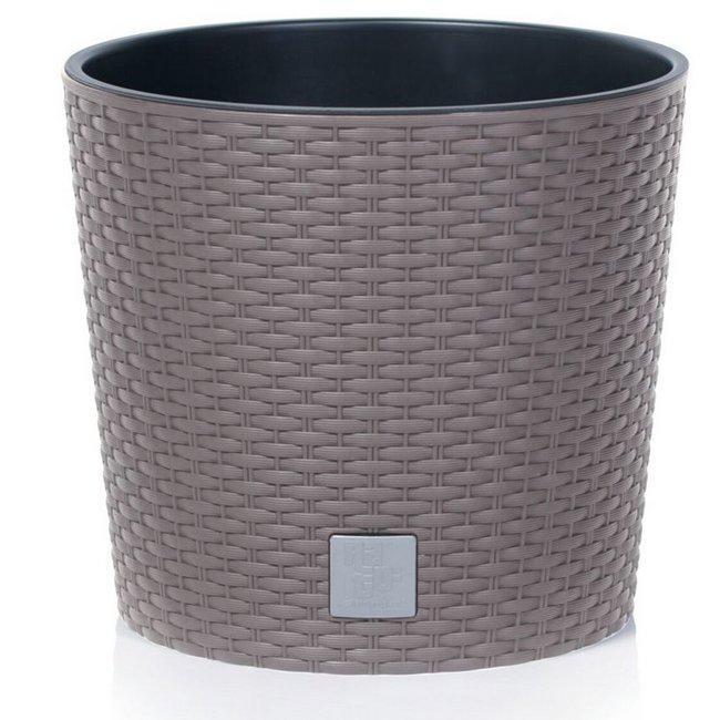 Prosperplast Rato Round 200 virágcserép kávé SP-255394