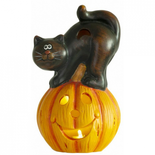 Xecco Halloween LED töklámpás macskával 2416 SP-8091206