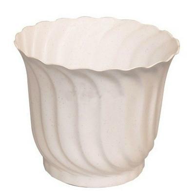 Csavart virágcserép 13 cm fehér Csavf13