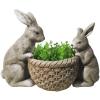 Gecco nyuszik kosárkával húsvéti dísz 8612