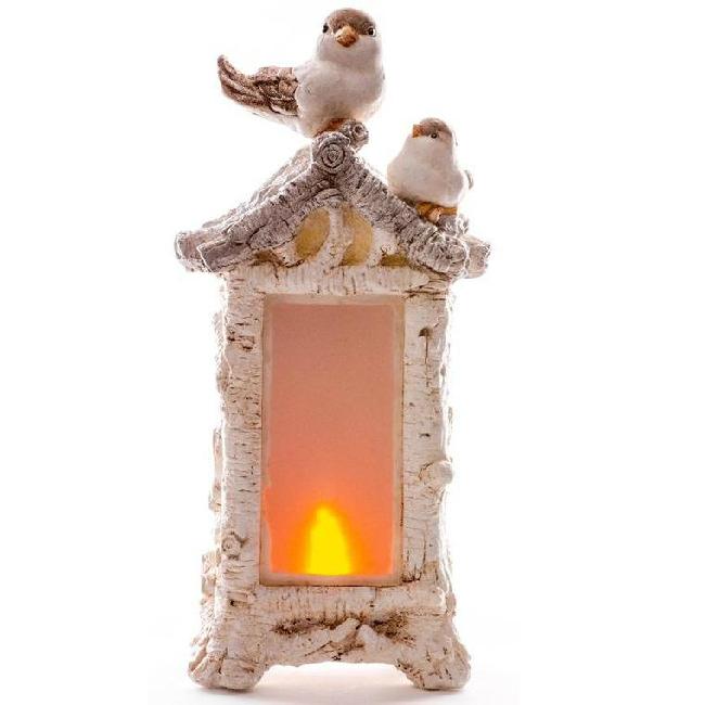 Xecco madarak etetővel karácsonyi dekoráció 19294 LED